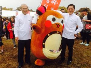 西条市長さん、愛媛県知事さんと