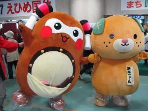 """最後に、みきゃんちゃんと2ショット!! お疲れ""""まちゅり""""~♪"""
